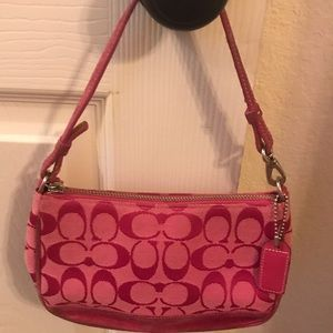 Pretty&Pink Signature Canvas Coach Mini Bag
